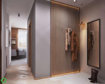 Pasillos y vestíbulos de estilo  por Polygon arch&des