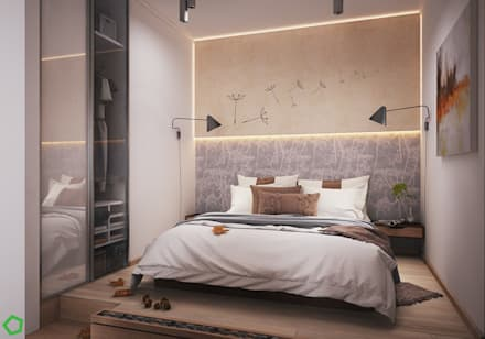 : Спальни в . Автор – Polygon arch&des