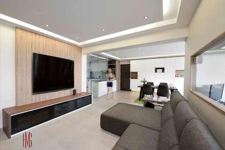 Modern Scandinavian HDB Apartment: modern Living room by HMG Design Studio