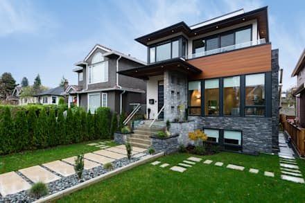 House exterior: modern Houses by Alice D'Andrea Design