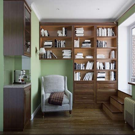 В стиле американской классики: Рабочие кабинеты в . Автор – JoinForces studio