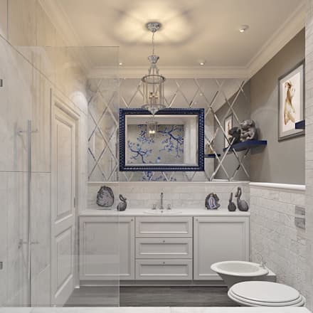 eclectic Bathroom by Dots&points interior design studio