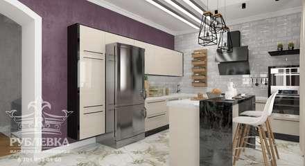 industrial Kitchen by мастерская интерьера РУБЛЕВКА / workshop interior RUBLEVKA