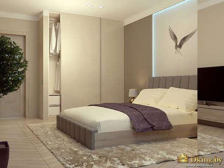 Two room apartment Promenad: minimalistic Bedroom by Студия дизайна интерьера Dking