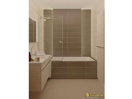 Two room apartment Promenad: minimalistic Bathroom by Студия дизайна интерьера Dking
