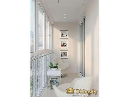 Two room apartment Promenad:  Terrace by Студия дизайна интерьера Dking