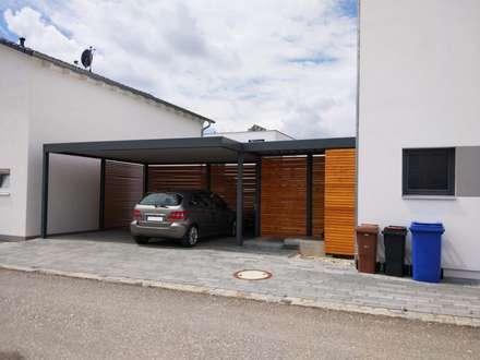 Moderne garagen schuppen ideen homify for Garage electricite auto paris