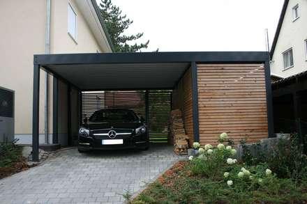Garage modern holz  Moderne Garagen & Schuppen Ideen | homify