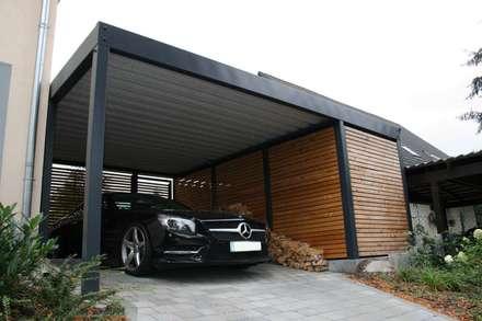 Moderne Garagen garage holz best carport mit seitlichem aus holz und drehtr