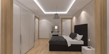 Minel Mimarlık Yapı Mühendislik İnşaat Sanayi Ticaret Limited Şirketi - Foreli Evler 6 : modern tarz Yatak Odası