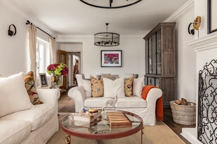 Living Room : rustic Living room by The White House Interiors