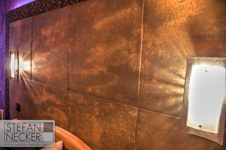 RostFliese im Schlafzimmer: industriale Schlafzimmer von Stefan Necker BadRaumKonzepte