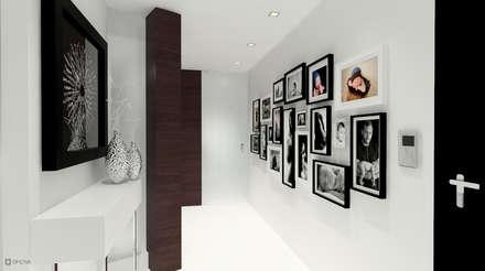 Apartamento Leiria: Corredores, halls e escadas modernos por OFICINA - COLECTIVO DE IDEIAS, LDA