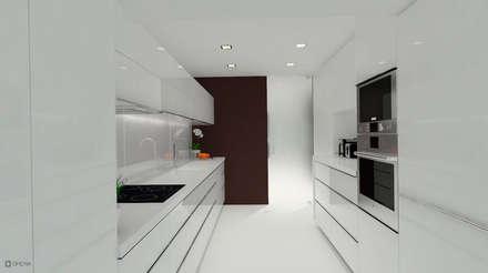 Apartamento Leiria: Cozinhas modernas por OFICINA - COLECTIVO DE IDEIAS, LDA