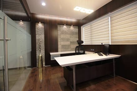 modern Study/office by studio 7 designs