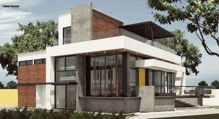 Moderne Häuser - Architektur, Design Ideen & Bilder | Homify Mauerwerk Als Sichtschutz Haus Design Idee