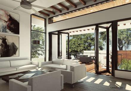 Moderne Wohnzimmer Von Cabas/Garzon Arquitectos