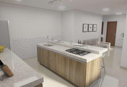 : Cozinhas minimalistas por Filipe Castro Arquitetura   Design