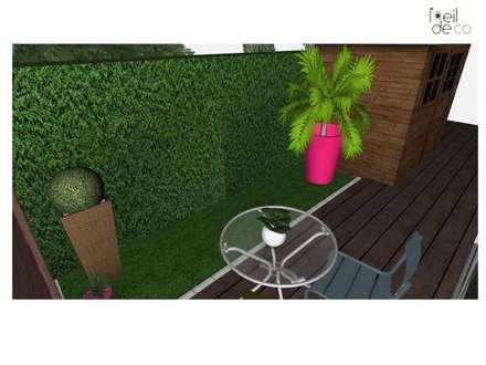 Terrasse: Jardin de style de style Colonial par L'Oeil DeCo