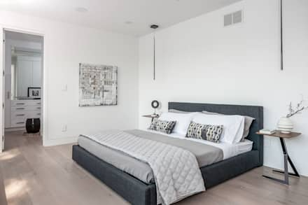 New Build-Staging: modern Bedroom by Frahm Interiors