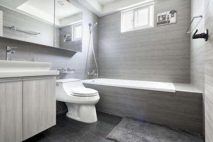 汐止-日月光:  浴室 by 唯創空間設計公司
