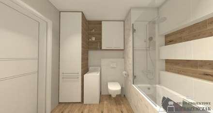 W ciepłym klimacie : styl , w kategorii Łazienka zaprojektowany przez Biuro projektowe Patio