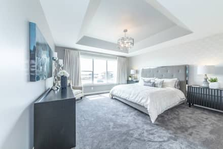 Broadview Showhome: modern Bedroom by Sonata Design