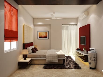 interior design and decor at pune minimalistic bedroom by ps designs - Bedrooms Interior Designs 2