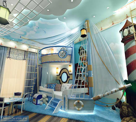 eclectic Nursery/kid's room by Студия интерьера Дениса Серова
