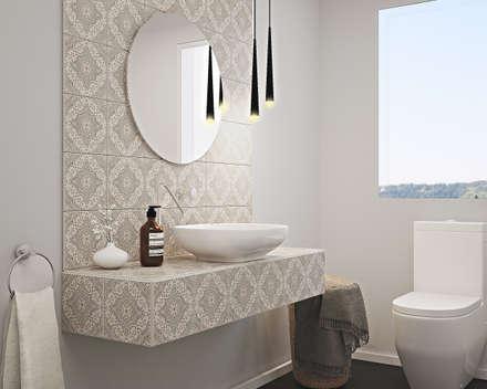mediterranean Bathroom by olivia Sciuto