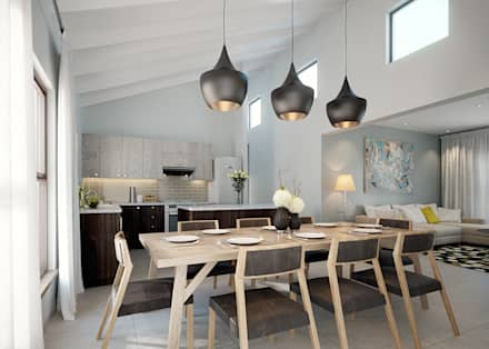 Residential Development: minimalistic Dining room by HEID Interior Design