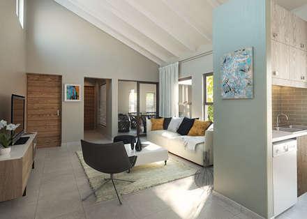 Residential Development: minimalistic Living room by HEID Interior Design