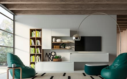 eclectic Living room by Atra Cucine