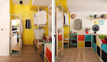 scandinavian Dressing room by 一葉藍朵設計家飾所 A Lentil Design