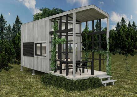 PRATIKIZ Mimarlık/ Architecture - Ağaç Ev: kırsal tarz tarz Evler