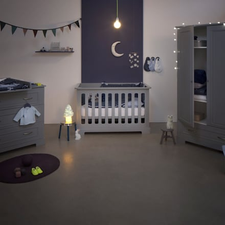 Daisy - Grey Nursery Furniture Set:  Baby room by Funique Furniture