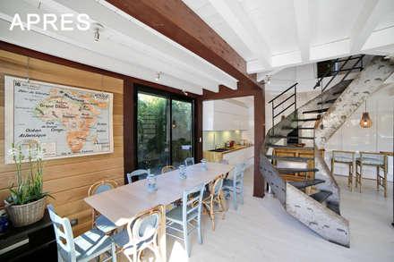 Maison Veyrier du Lac: Salle à manger de style de style Moderne par ARQUITECT CONCEPTION