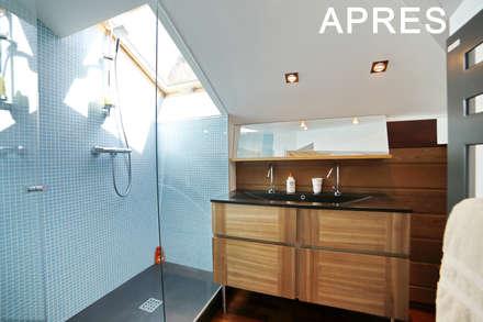 Maison Veyrier du Lac: Salle de bain de style de style Moderne par ARQUITECT CONCEPTION