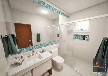 : Baños de estilo  por Ao Cubo Arquitetura e Interiores