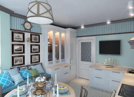 Кухня в морском стиле: Кухни в . Автор – Архитектурное бюро Оксаны Костюченко & C
