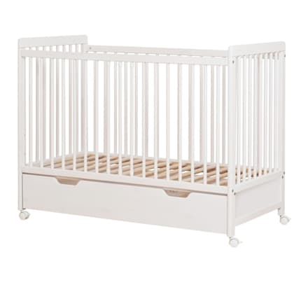 Lambs Baby Cot With Wheels & Bottom Drawer:  Baby room by Funique Furniture