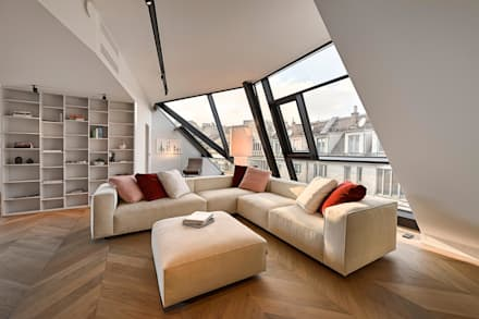 Attico G 43/13: Soggiorno in stile in stile Moderno di FADD Architects
