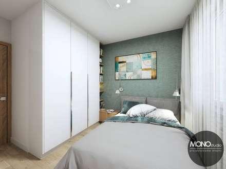 Sypialnia: styl , w kategorii Sypialnia zaprojektowany przez MONOstudio