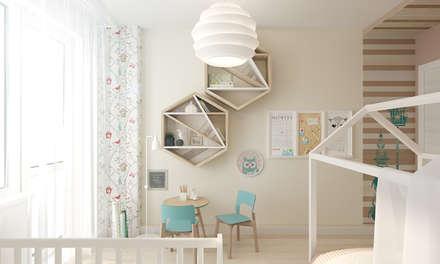 Детская комната для двух детей 10, 4 кв.м. : Детские комнаты в . Автор – A R C H I T I Z M