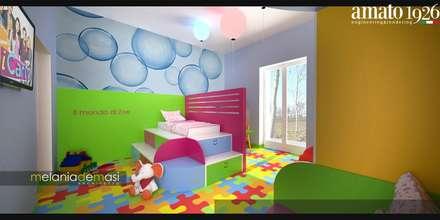 Il Mondo di Zoe: Stanza dei bambini in stile in stile Moderno di melania de masi architetto