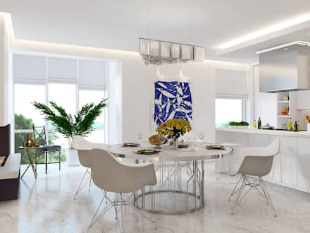 Horizon: Столовые комнаты в . Автор – Rosko family design