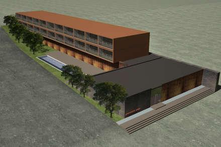 APARTHOTEL VIANA . ANGOLA: Casas tropicais por PLURALLINES - Ideias, Projectos e Gestão Lda