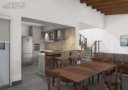Casa FUNES: Comedores de estilo moderno por Prece Arquitectura
