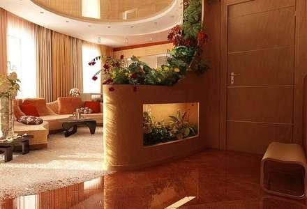 Гостиная-кухня 25 кв. м в современном стиле: Гостиная в . Автор – Студия интерьера Дениса Серова
