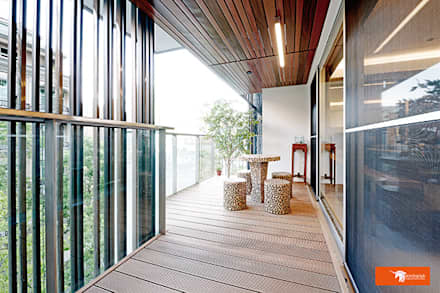 璞玉-Salim's House:  露臺 by Unicorn Design